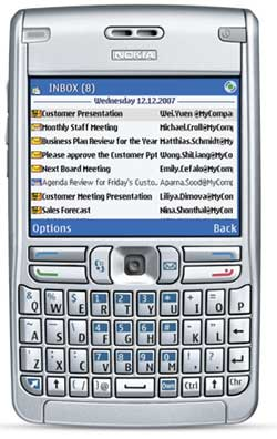 foto del cellulare Nokia E62