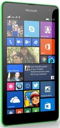 foto del cellulare Microsoft Lumia 535