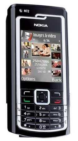 foto del cellulare Nokia N72