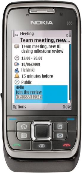 foto del cellulare Nokia E66