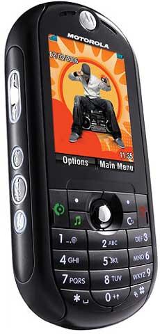 foto del cellulare Motorola Rokr E2
