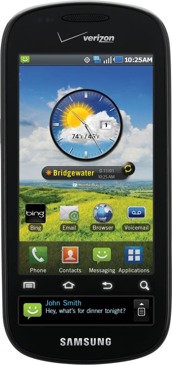 foto del cellulare Samsung Continuum