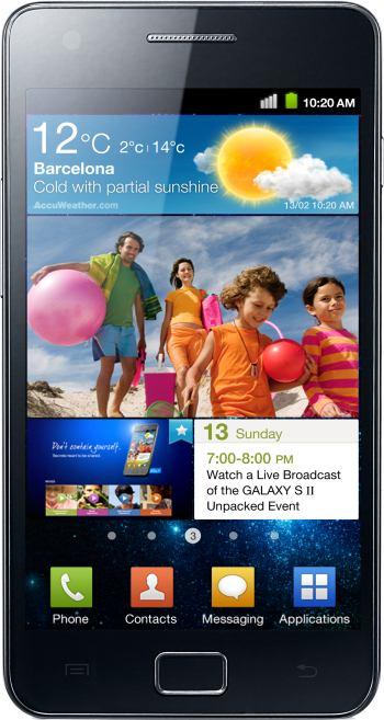 foto del cellulare Samsung Galaxy S2