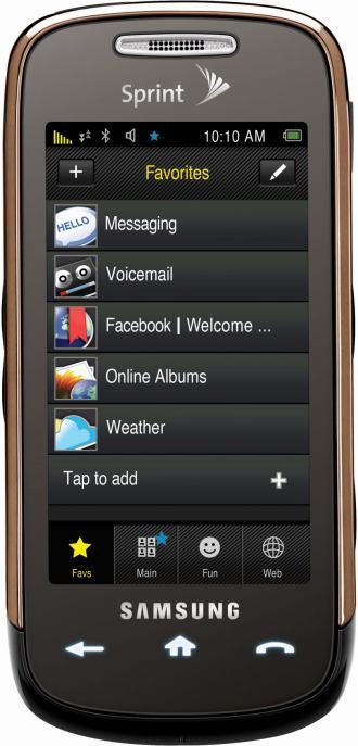 foto del cellulare Samsung M810 Instinct S30