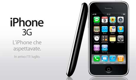 Apple iPhone arriva 11 Luglio 2008