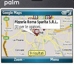Palm Treo con Google Maps