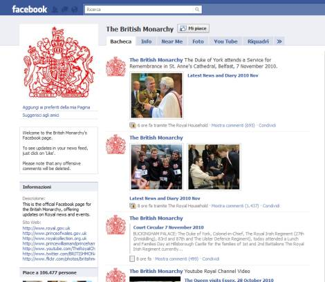 The British Monarchy su Facebook