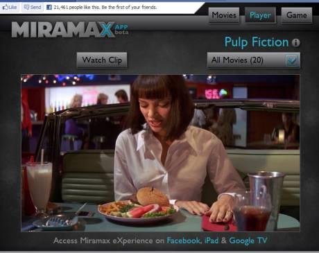 Miramax su Facebook e iPad