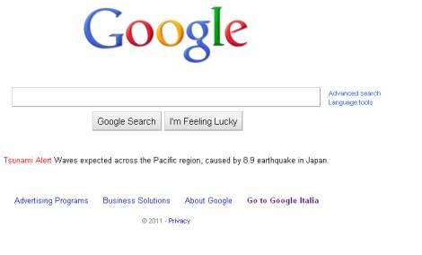 Google Alert su Tsunami