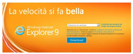 IE9 disponibile in Download
