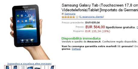 Galaxy Tab su Amazon