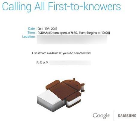 Samsung Galaxy 19 ottobre