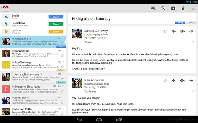 Android app Gmail