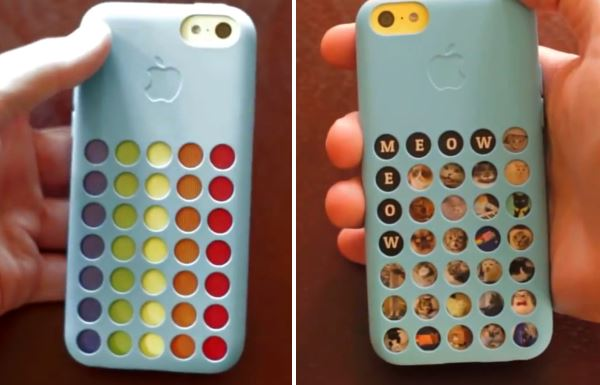 iphone 5c azzurro cover