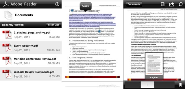 Adobe Reader per iOS