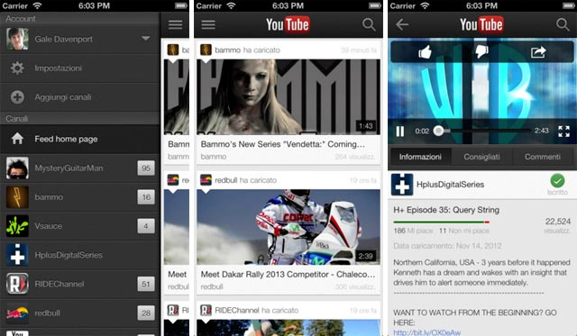 App Youtube iOS 1.1.0.4136