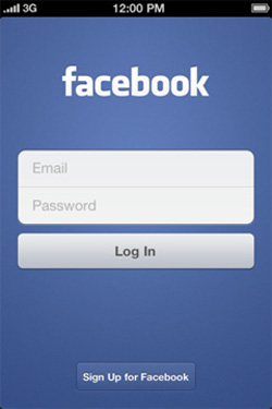 Facebook iPhone