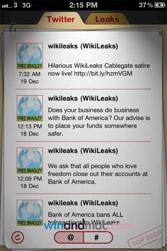 Wikileaks su iPhone