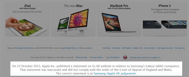 Apple uk sentenza homepage