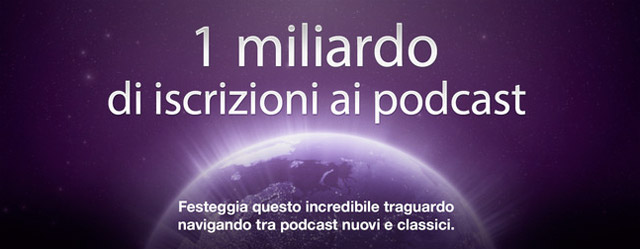 Apple podcast 1 miliardo