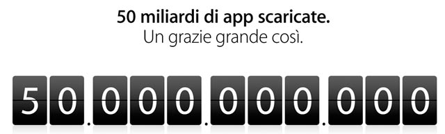 Apple 50 miliardi download