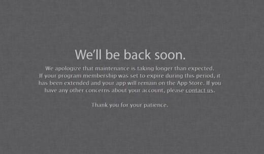 Apple sito sviluppatori down