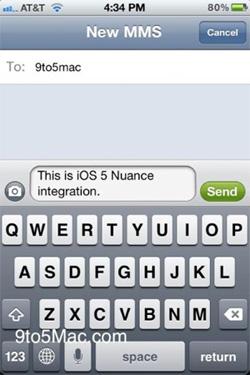 Apple iOS5 dettatura vocale