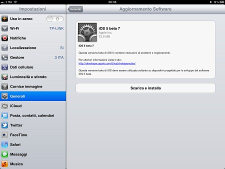Apple iOS 5 beta 7