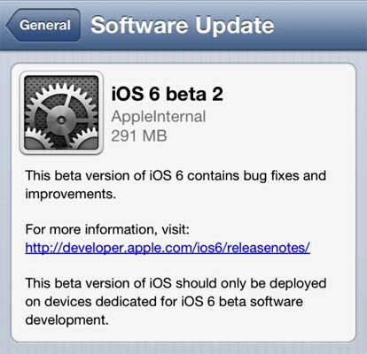 Apple iOS 6 software update