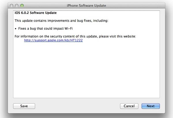 Apple iOS 6.0.2