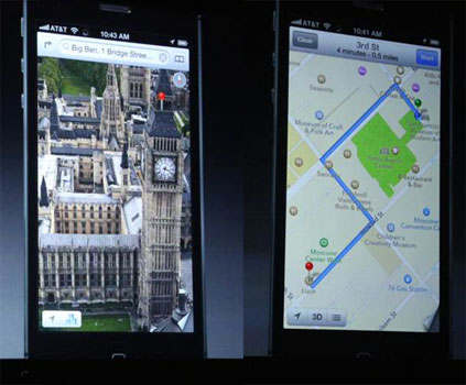 Apple iPhone5 maps live