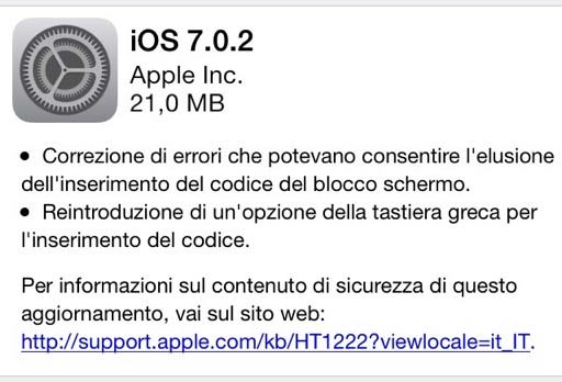 Apple ios 702