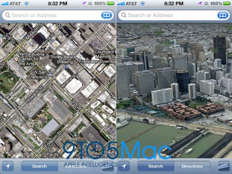 Mappe 3D iOS 6 beta