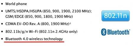 Bluetooth 4.0 su iPhone 4S