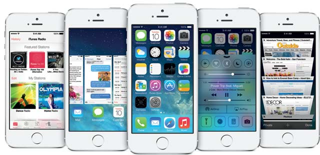 Apple iPhone 5S con iOS7