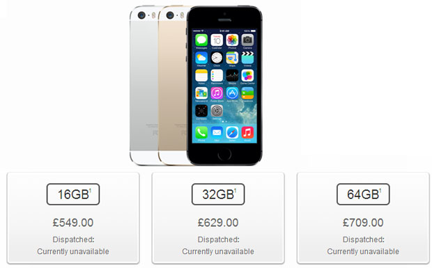 Apple iPhone 5S prezzi_uk