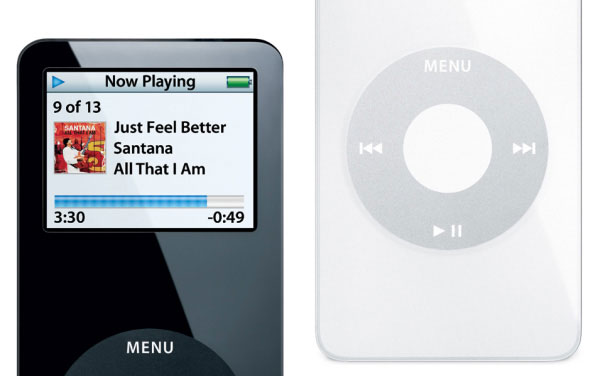 Apple iPod nano black and white