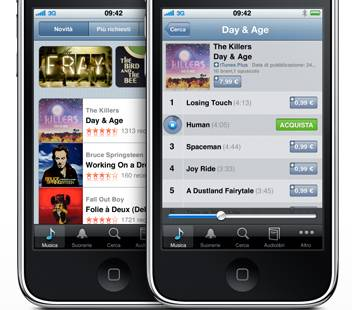 iTunes su iPhone