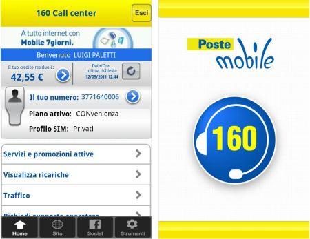 recensione applicazione 160 call center informazione android 1 6 ios 3 0. Black Bedroom Furniture Sets. Home Design Ideas