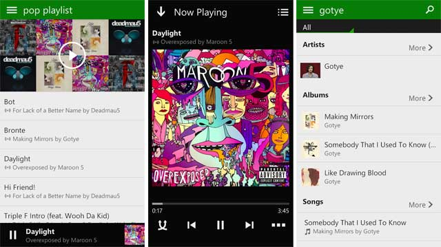 Xbox Music app Android