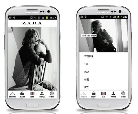 Samsung App Zara