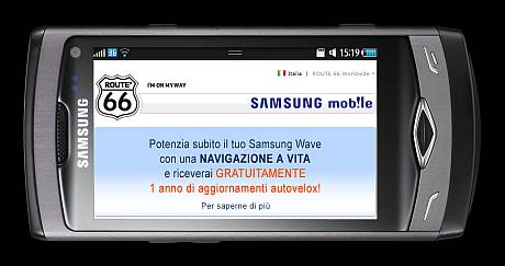 Route 66 su Samsung Wave
