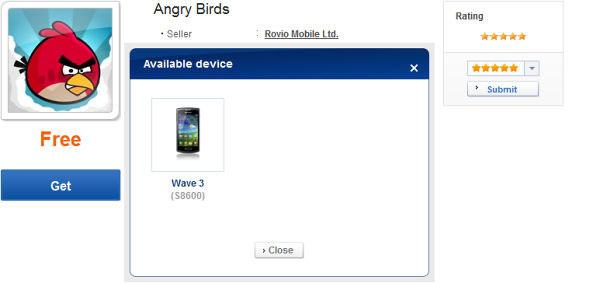 Angry Birds dispositivi Bada