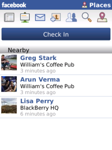 Nuova versione Facebook su  BlackBerry App World