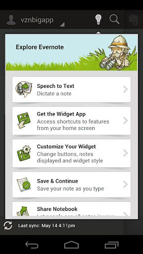 Evernote per Android