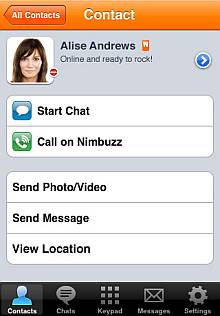 Nimbuzz iPhone 2