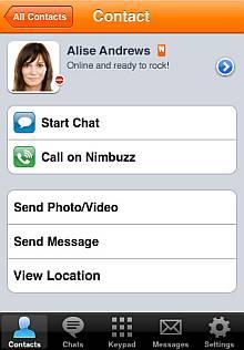 Nimbuzz iPhone 2