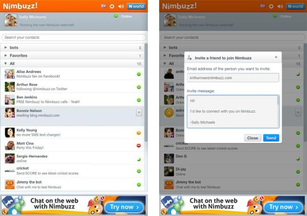 Nimbuzz Webchat 3,2