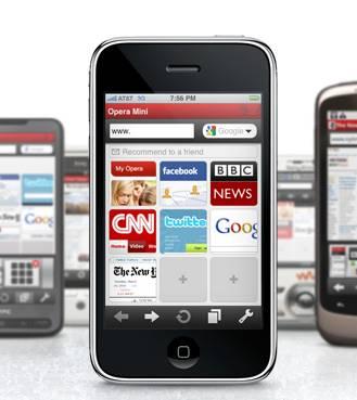 Opera mini su iPhone