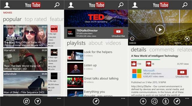 Youtube app Windows Phone 8